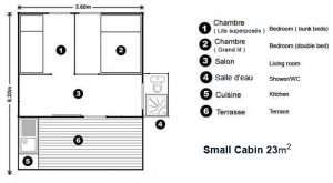 smaller cabin floor plan