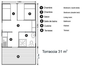 Torraccia cabin floor plan